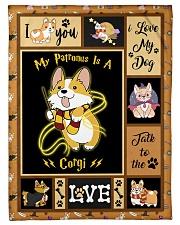 "My Patronus Is A Corgi - Gift For Corgi Lovers Small Fleece Blanket - 30"" x 40"" front"