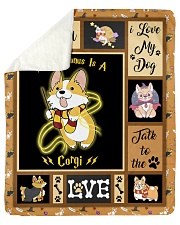 "My Patronus Is A Corgi - Gift For Corgi Lovers Sherpa Fleece Blanket - 50"" x 60"" thumbnail"