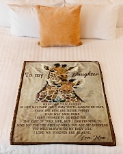 """Gift For Daughter - To My Daughter Giraffe Small Fleece Blanket - 30"""" x 40"""" aos-coral-fleece-blanket-30x40-lifestyle-front-04"""