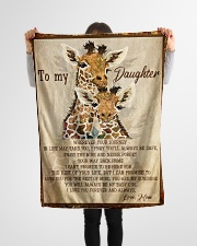 """Gift For Daughter - To My Daughter Giraffe Small Fleece Blanket - 30"""" x 40"""" aos-coral-fleece-blanket-30x40-lifestyle-front-14"""