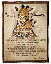 "Gift For Daughter - To My Daughter Giraffe Small Fleece Blanket - 30"" x 40"" front"