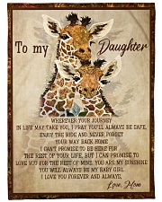 Gift For Daughter - To My Daughter Giraffe Fleece Blanket tile