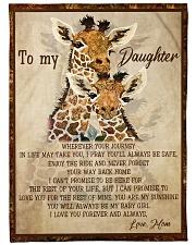 Gift For Daughter - To My Daughter Giraffe Fleece Blanket tile