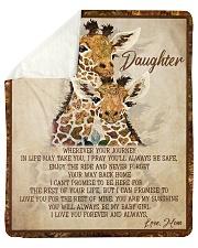 "Gift For Daughter - To My Daughter Giraffe Sherpa Fleece Blanket - 50"" x 60"" thumbnail"