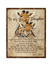 """Gift For Daughter - To My Daughter Giraffe Quilt 40""""x50"""" - Baby thumbnail"""
