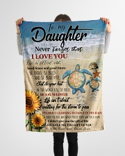 "Gift For Daughter - To My Daughter Turtle Small Fleece Blanket - 30"" x 40"" aos-coral-fleece-blanket-30x40-lifestyle-front-14"