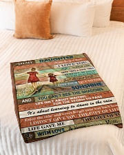 """Gift For Daughter - To My Daughter Small Fleece Blanket - 30"""" x 40"""" aos-coral-fleece-blanket-30x40-lifestyle-front-01"""