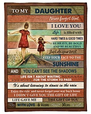 """Gift For Daughter - To My Daughter Small Fleece Blanket - 30"""" x 40"""" front"""