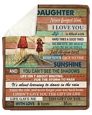 """Gift For Daughter - To My Daughter Sherpa Fleece Blanket - 50"""" x 60"""" thumbnail"""