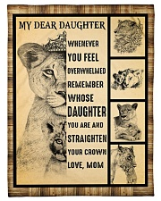 "Gift For Daughter - To My Daughter Lion Small Fleece Blanket - 30"" x 40"" front"