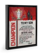 Gift For Son - To My Son Champion Floating Framed Canvas Prints Black tile