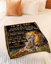 "Gift For Dad - To My Dad Lion  Small Fleece Blanket - 30"" x 40"" aos-coral-fleece-blanket-30x40-lifestyle-front-01"