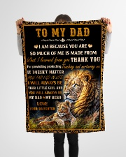 "Gift For Dad - To My Dad Lion  Small Fleece Blanket - 30"" x 40"" aos-coral-fleece-blanket-30x40-lifestyle-front-14"