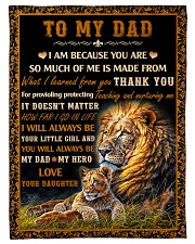 "Gift For Dad - To My Dad Lion  Small Fleece Blanket - 30"" x 40"" front"