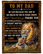 Gift For Dad - To My Dad Lion  Fleece Blanket tile