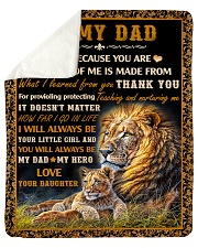 "Gift For Dad - To My Dad Lion  Sherpa Fleece Blanket - 50"" x 60"" thumbnail"
