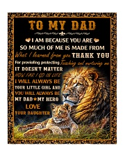 "Gift For Dad - To My Dad Lion  Quilt 50""x60"" - Throw thumbnail"
