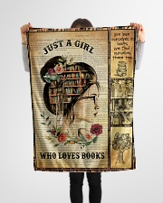 """Just A Girl Who Loves Books - Gift For Book Lovers Small Fleece Blanket - 30"""" x 40"""" aos-coral-fleece-blanket-30x40-lifestyle-front-14"""