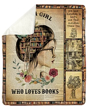 """Just A Girl Who Loves Books - Gift For Book Lovers Sherpa Fleece Blanket - 50"""" x 60"""" thumbnail"""