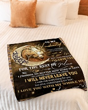 """Gift For Husband - To My Husband Horse Small Fleece Blanket - 30"""" x 40"""" aos-coral-fleece-blanket-30x40-lifestyle-front-01"""