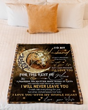"""Gift For Husband - To My Husband Horse Small Fleece Blanket - 30"""" x 40"""" aos-coral-fleece-blanket-30x40-lifestyle-front-04"""