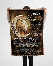 """Gift For Husband - To My Husband Horse Small Fleece Blanket - 30"""" x 40"""" aos-coral-fleece-blanket-30x40-lifestyle-front-14"""