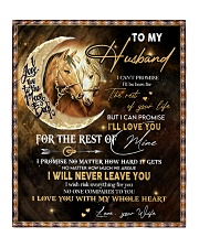 """Gift For Husband - To My Husband Horse Quilt 50""""x60"""" - Throw thumbnail"""