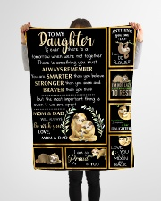 """Gift For Daughter - To My Daughter Sloth Small Fleece Blanket - 30"""" x 40"""" aos-coral-fleece-blanket-30x40-lifestyle-front-14"""