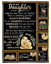 """Gift For Daughter - To My Daughter Sloth Small Fleece Blanket - 30"""" x 40"""" front"""