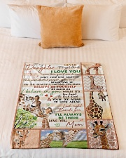 """Gift For Granddaughter - To My Granaughter Giraffe Small Fleece Blanket - 30"""" x 40"""" aos-coral-fleece-blanket-30x40-lifestyle-front-04"""