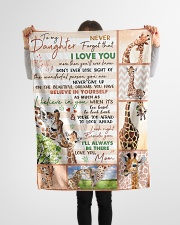 """Gift For Granddaughter - To My Granaughter Giraffe Small Fleece Blanket - 30"""" x 40"""" aos-coral-fleece-blanket-30x40-lifestyle-front-14"""