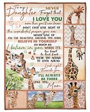 "Gift For Granddaughter - To My Granaughter Giraffe Small Fleece Blanket - 30"" x 40"" front"