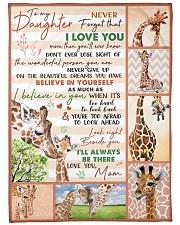 Gift For Granddaughter - To My Granaughter Giraffe Fleece Blanket tile