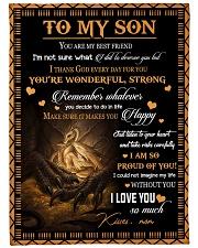 Gift For Son - To My son Dragon Fleece Blanket tile