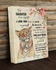 Gift For Daughter - To My Son Tiger 11x14 Gallery Wrapped Canvas Prints aos-canvas-pgw-11x14-lifestyle-front-19