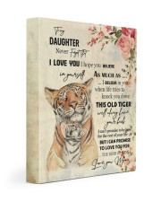 Gift For Daughter - To My Son Tiger 11x14 Gallery Wrapped Canvas Prints front
