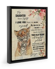 Gift For Daughter - To My Son Tiger 11x14 Black Floating Framed Canvas Prints thumbnail
