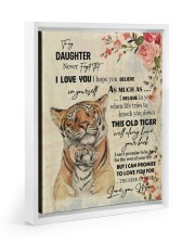 Gift For Daughter - To My Son Tiger 11x14 White Floating Framed Canvas Prints thumbnail