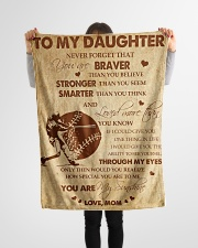 """Gift For Daughter - To My Daughter Baseball Small Fleece Blanket - 30"""" x 40"""" aos-coral-fleece-blanket-30x40-lifestyle-front-14"""