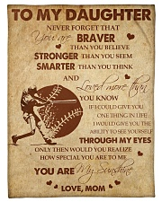 """Gift For Daughter - To My Daughter Baseball Small Fleece Blanket - 30"""" x 40"""" front"""