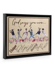 God Says You Are Baseball  14x11 Black Floating Framed Canvas Prints thumbnail