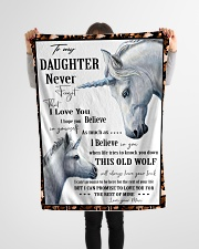 """Gift For Daughter - To My Daughter Unicorn Small Fleece Blanket - 30"""" x 40"""" aos-coral-fleece-blanket-30x40-lifestyle-front-14"""