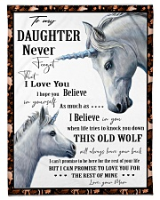 """Gift For Daughter - To My Daughter Unicorn Small Fleece Blanket - 30"""" x 40"""" front"""