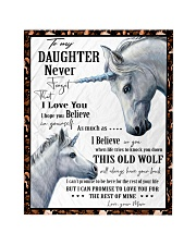 """Gift For Daughter - To My Daughter Unicorn Quilt 40""""x50"""" - Baby thumbnail"""