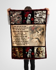 """Gift For Skull Lover - When I Say I Love You More Small Fleece Blanket - 30"""" x 40"""" aos-coral-fleece-blanket-30x40-lifestyle-front-14"""