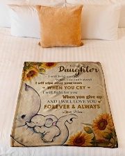 """Gift For Daughter - To My Daughter Elephant Small Fleece Blanket - 30"""" x 40"""" aos-coral-fleece-blanket-30x40-lifestyle-front-04"""
