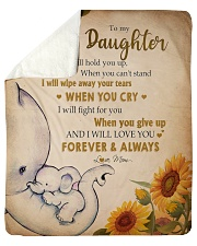 """Gift For Daughter - To My Daughter Elephant Sherpa Fleece Blanket - 50"""" x 60"""" thumbnail"""
