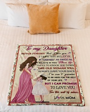 """Gift For Daughter - To My Daughter Small Fleece Blanket - 30"""" x 40"""" aos-coral-fleece-blanket-30x40-lifestyle-front-04"""
