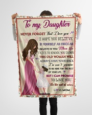 """Gift For Daughter - To My Daughter Small Fleece Blanket - 30"""" x 40"""" aos-coral-fleece-blanket-30x40-lifestyle-front-14"""