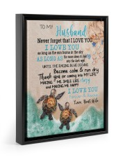 Gift For Husband - To My Husband Turtle 11x14 Black Floating Framed Canvas Prints thumbnail